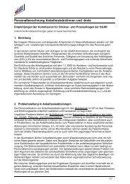 Grundlagen zur Personalberechnung Anästhesieärztinnen und -ärzte