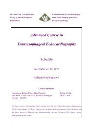 Advanced Course in Transesophageal Echocardiography