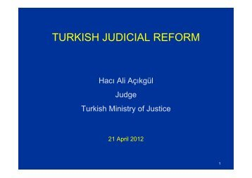 TURKISH JUDICIAL REFORM