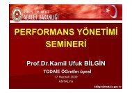 Performans Yönetimi K. Ufuk BÝLGÝN - Strateji Geliştirme Başkanlığı