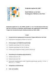 Eingliederungsbericht Stadt Mülheim a.d. Ruhr