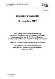 Eingliederungsbericht Landkreis Osterode am Harz