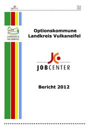 Eingliederungsbericht Landkreis Vulkaneifel - jobcenter   SGB II ...
