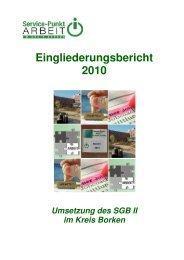 Eingliederungsbericht Landkreis Borken - jobcenter   SGB II Reform