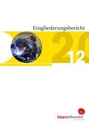 Eingliederungsbericht Landkreis Lippe - jobcenter   SGB II Reform