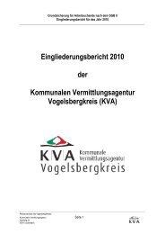 Eingliederungsbericht Landkreis Vogelsbergkreis - jobcenter   SGB ...