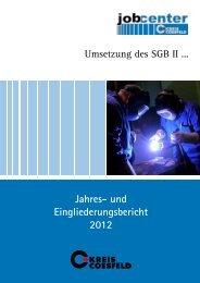 Jahres- und Eingliederungsbericht 2012 - Jobcenter Kreis Coesfeld