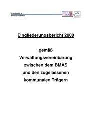 Eingliederungsbericht Landkreis Marburg-Biedenkopf (2008)