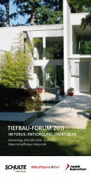 Programmheft Tiefbauforum 2011 - Raab Karcher