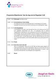 Programma Bijeenkomst 'Aan de slag met de Wegwijzer CJG' - Sgbo