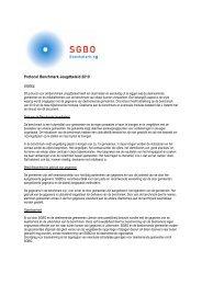 Protocol Benchmark Jeugdbeleid 2010 - Sgbo
