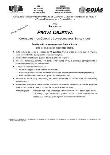 PROVA OBJETIVA - Sistema de Gerenciamento de Conteúdo