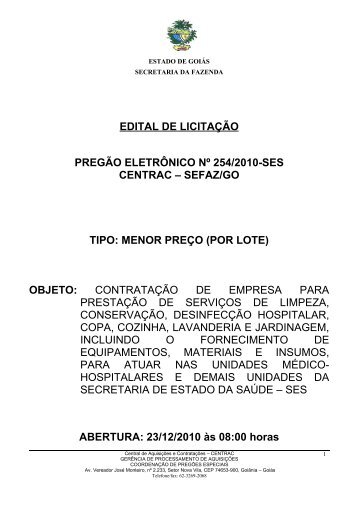Edital - Sistema de Gerenciamento de Conteúdo