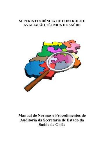 Manual de Normas e Procedimentos de Auditoria da Secretaria de ...