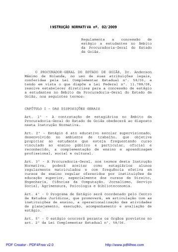 Instrução Normativa nº 2/2009-PGE