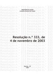 Resolução nº 333 - Conselho Nacional de Saúde - Ministério da ...