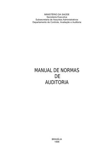 MANUAL DE NORMAS DE AUDITORIA - Sistema de ...