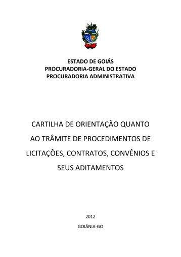 Cartilha sobre licitações, contratos e convênios - Sistema de ...