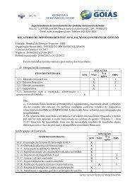 Relatórios de monitoramento Hdt - Sistema de Gerenciamento de ...