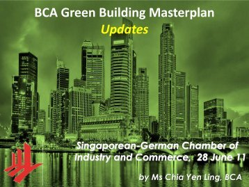 BCA Green Building Masterplan Updates