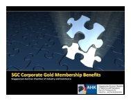 SGC Corporate Gold Membership Benefits