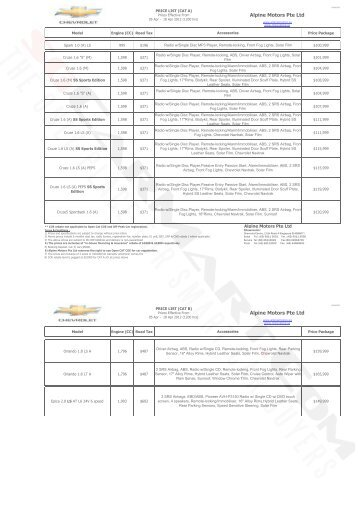 Chevrolet Pricelist Apr 2012 (2012-04-05) - sgCarMart
