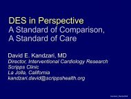 DES in Perspective A Standard of Comparison, A Standard of Care
