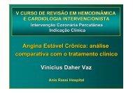 Angina estável crônica: análise comparativa com o tratamento clínico
