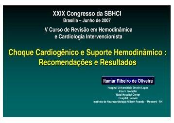 Choque Cardiogênico e Suporte Hemodinâmico : Recomendações ...