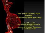 New Device and Non-Device Solutions For Abdominal Aortic ...