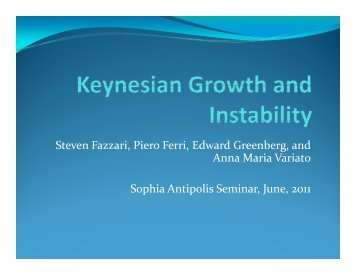 Keynesian Growth and Instability