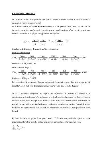 Correction de l'exercice 1
