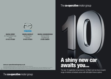 A shiny new car awaits you... - The Co-operative Motor Group