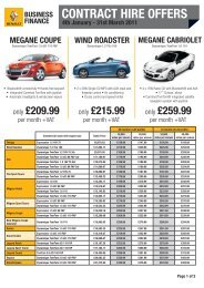 CONTRACT HIRE OFFERS - The Co-operative Motor Group
