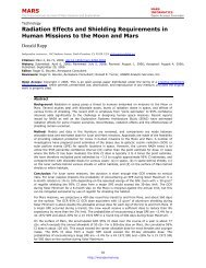 MARS Radiation Effects and Shielding Requirements in Human ...