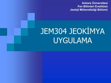 jem304 jeokimya uygulama (5. hafta) - 1