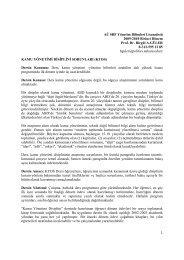 AÜ SBF Yönetim Bilimleri Lisansüstü 2009-2010 Birinci Dönem Prof ...