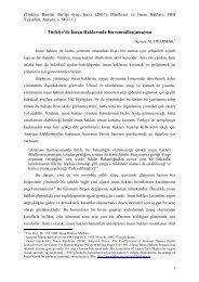Türkiye'de İnsan Haklarında Kurumsallaş(ama)ma