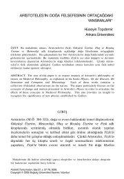 ARİSTOTELES'İN DOĞA FELSEFESİNİN ORTAÇAĞDAKİ ...