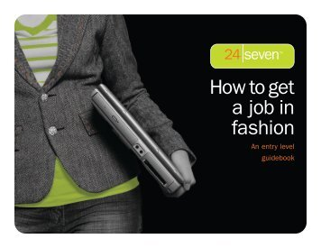 How to get a job in fashion