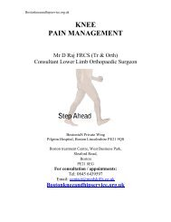 Pain management - Boston knee & hip