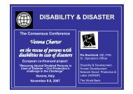 DISABILITY & DISASTER
