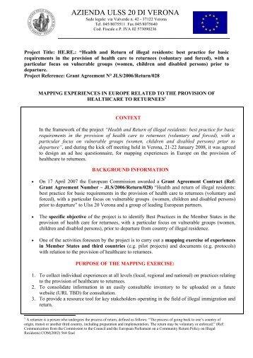 Ufficio Valutazione Attività Sanitaria - Ufficio Rapporti Internazionali ...
