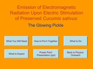The Glowing Pickle - UBC Physics & Astronomy Outreach