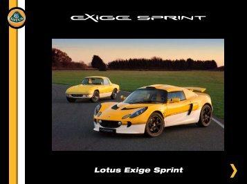 Lotus Exige Sprint - LOTUS-Forum.be