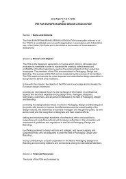 CONSTITUTION of THE PAN EUROPEAN BRAND DESIGN ...