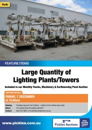 Large Quantity of Lighting Plants/Towers - Pickles Auctions