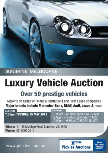 luxury car auctions melbourne  Luxury Vehicle Auction - Pickles Auctions