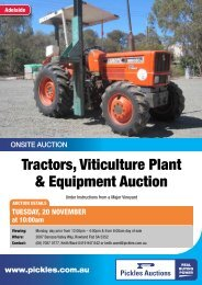 Download the 2 page flyer - Pickles Auctions