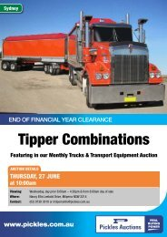 Download the Tipper Combinations 2 page flyer - Pickles Auctions